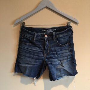 American Eagle Outfitters AEO Midi Jean Shorts 8